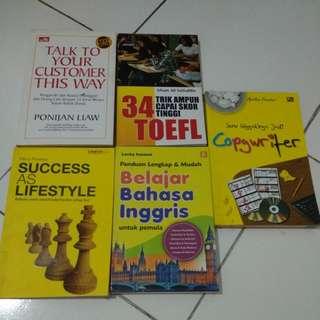 Buku Toefl, copywriter, bahasa inggris, self development