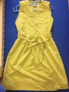 Yellow (near to apple green) Dress