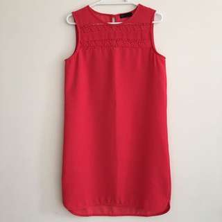 SEED Sleeveless Shift Dress PINK US 4