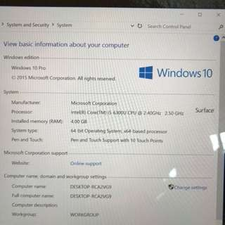 Microsoft Surface Pro MINT condition for quick sale