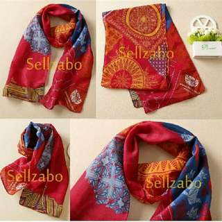 Red Neck Scarf Tribal Design Colour Sellzabo Accessories
