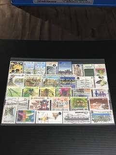 Singapore Stamp- 30 Used Stamps