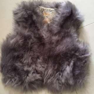 Top fake fur collar tee 衫 上衣 毛毛 韓 日本 korea Japan Zara Hollister