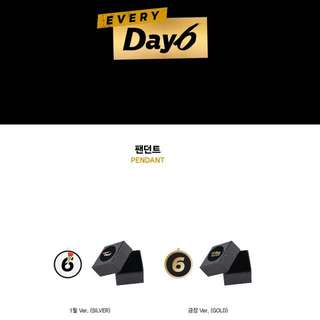 Quick Preorder! Official PENDANT - DAY6 EVERY DAY6 CONCERT IN JANUARY CONCERT GOODS gold or silver