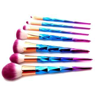 7-Piece Diamond Unicorn Makeup Brush Set