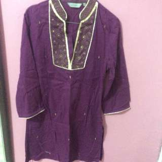Gold purple blouse