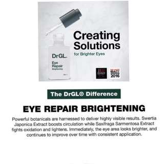 😍TODAY CRAZIEST $118 SALE!!💫 ULTIMATE LUXURY EYE CARE 💫BANISH DARK CIRCLES, PUFFINESS, FINE LINES WITH THIS WATERY GEL LIKE TEXTURE!! NO OIL CLOGS OR BUMPS!!! 👀 🌹FULL SIZE🌹Dr GL Eye Repair (Brightening) 10ml