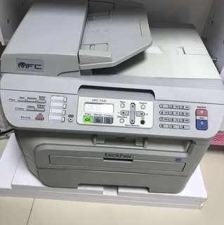 Brother MFC-7340 laser printer scanner fax 打印機 掃瞄器 影印 包碳粉盒