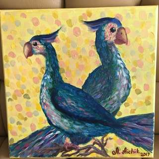 Oil painting (Duality: Birds)
