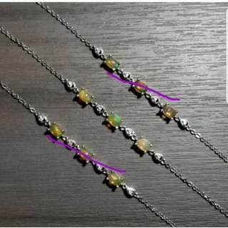 新貨 N5 銀手鏈 澳寶 歐泊 水晶