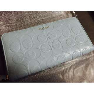 Coach 壓花拉鍊長銀包 F50884 Bleecker Logo Embossed Accordion Zip Wallet
