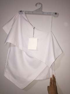 Witchery white shirt off the shoulder BNWT