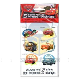 🚘 Disney Cars Party Supplies - party temporary tattoos / party gifts