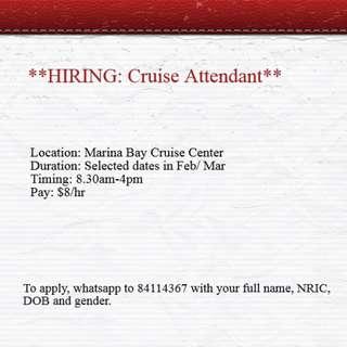 **Cruise Attendant**