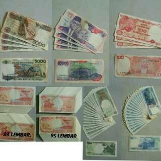 Uang rupiah kuno th 1984 & 1992