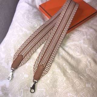 70cm Hermes Kelly Canvas Strap