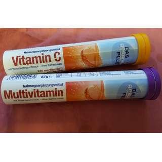 Vitamin C & Multivitamin Water soluble tablets ( effervescent tablets)