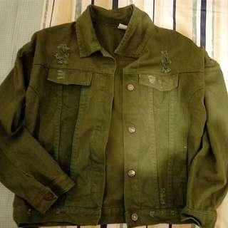 BF風 韓系 軍綠褸外套 S碼💕全新已洗💭💦