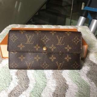 Lv monogram wallet 2cc good condition