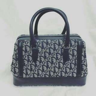 Christian Dior monogrammed overnighter bag