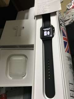 Applewatch S2 42mm 有AppleCare19年3月 連Airpods 冇單