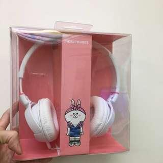 全新✨Line headsets 兔兔 耳機 頭戴式 小朋友也很適合