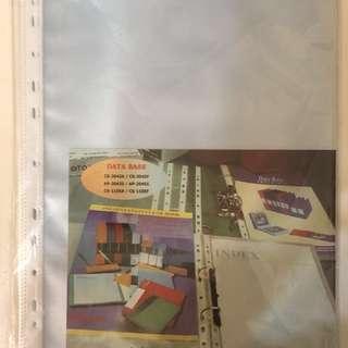 (Brand new!) see through sleeves 24cm (width) x 34cm (length)