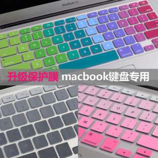 蘋果筆記本電腦鍵盤膜macbook 11air13漸變鍵盤貼13寸pro保護膜12