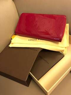 LV zippy wallet - monogram vernis in Rose Indien
