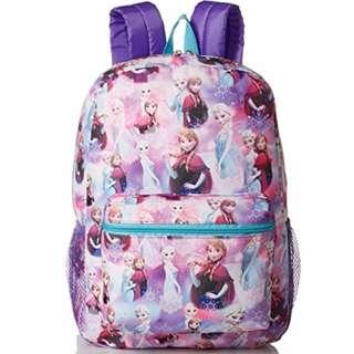 AUTHENTIC Disney bag backpack for girls Frozen Elsa Print purple