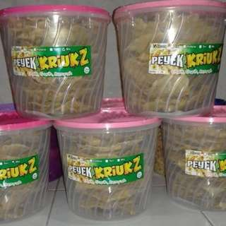 PEYEK KRIUKZ (toping kacang, grago, kedelai, atau mix)