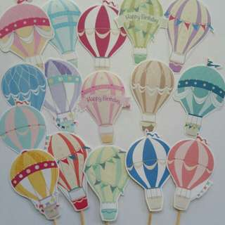 $8 Hot Air Baloon Cupcake Topper