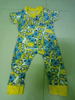 Minion pyjamas 6m