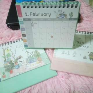 2018 Cute Desk Calendar