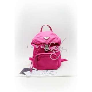 PRADA BZ0025 Vela 桃紅色(Fuxia)尼龍帆布 索帶 背囊 背包 肩背袋 手袋