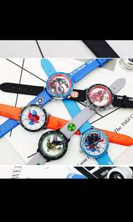 PO kids boys watch Brand New Size for 2-12yrs old (avenger /American /iron man /spiderman/hunk )