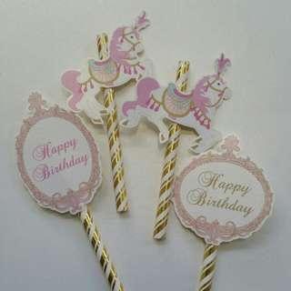 $8 Unicorn Carousell Cupcake Topper