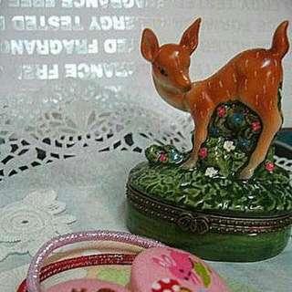 【Little B જ 雑貨】*::森林系❤日本可愛滴小鹿飾品/擺設/手飾盒::