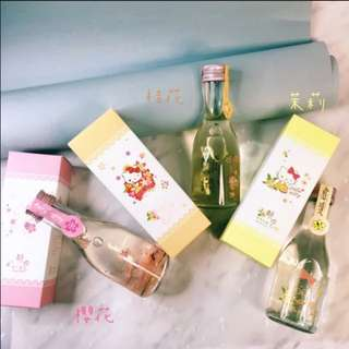 1套3支🌸🌼🍶醉月x Sanrio Hello Kitty 三支入禮盒酒 Sakura Jasmine Osmanthus Wine Set Of 3 Gift box