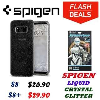 Spigen Liquid Crystal Glitter S8 and S8+