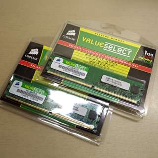 Value select 1GB x2 ram 667Mhz DDR2