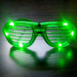 Green Light-up Glasses