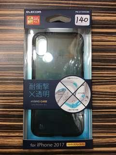 apple iphoneX case 日本直送 新品 透明黒 elecom 保護 hybrid case #21