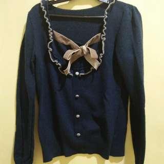 Korean/Japanese blue sweater