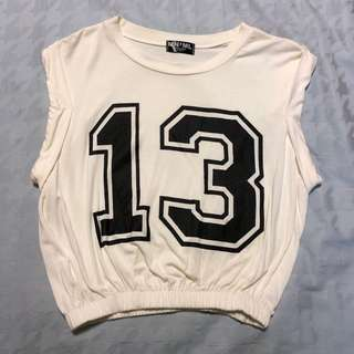 White 13 Crop top