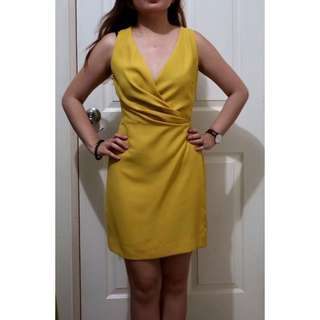 Preloved Mango Yellow Cocktail Dress