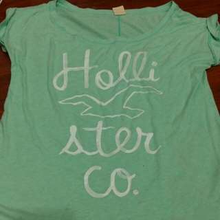 Hollister 海鷗寬鬆薄荷綠上衣