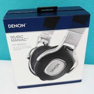100%全新原裝行貨日本DENON天龍 AH-MM300 ON-EAR HEAPHONE 耳罩式耳機
