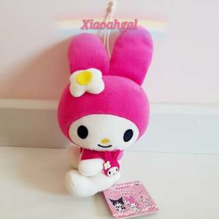 💖50% OFF➡️ MY FOLLOWERS ONLY!💖🎀$39.90➡️$19.90🎀🏵16CM🏵🐰JAPAN SANRIO ORIGINAL - AUTHENTIC BRAND NEW +TAG (Clean in plastic)🐰PINK SCHOOLING MY MELODY SOFT FUR BAG CHARM/Plush/Doll/Toy! 💋See description=better deals!💋 No Pet No smoker clean Hse