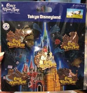 Tokyo Disneyland 5 pin Set once upon a time